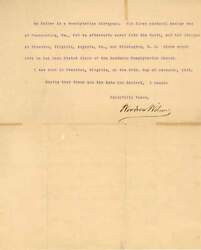 28th Us President 1913-1921 Woodrow Wilson Autograph, Typed Letter Signed