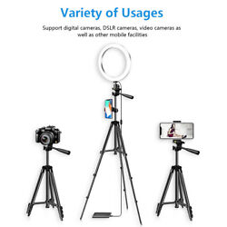 Led Selfie Ring Light With Tripod Phone Holder Stand For Makeup Live Stream