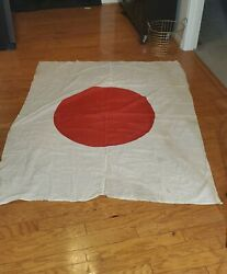 Wwii Japanese Army Meatball Flag, Large 67x54, Cotton, With Photo And Name