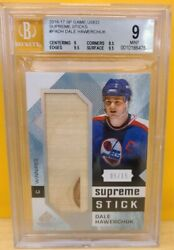 Dale Hawerchuk 2016-17 Sp Game Used Supreme Stick 5/15 Jersey Card And Retired