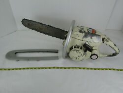 Vintage Skil Chain Saw Chainsaw Model 1645 Type 2 With Chain And 18 Bar