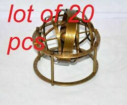 Antique Vintage Style Solid Brass 5 Tabletop Armillary Sphere Astrolabe New