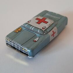 Vintage Tin Toy Small Ambulance A-1 Car Vehicle Made In Japan
