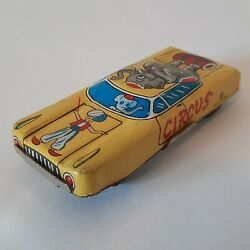 Vintage Tin Toy Small Circus 108 Car Vehicle Made In Japan