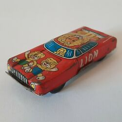 Vintage Tin Toy Small Lion 508 Car Vehicle Made In Japan