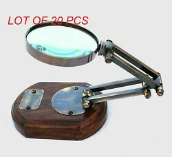 Folding Magnifying Glass Watkins And Hills 1805 London Wooden Base Magnifier Gift