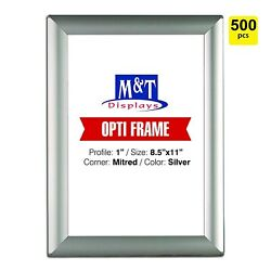 Mandt Displays Snap Frame For Wall Mount Snap Open Frame 1 Inch Profile - Silver