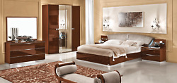 Esf Onda Walnut King Bedroom Set Made In Italy By Camelgroup Group 5 Pieces