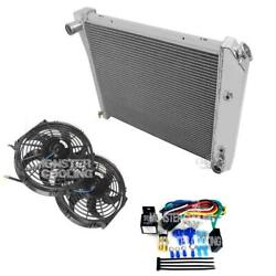 1973-1974 Olds Omega Champion Aluminum 4 Row Radiator, 2-10 Fans And Relay, 412