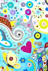 Art Painting . World Of Colors Large Canvas Super Beautiful Contemporary Art