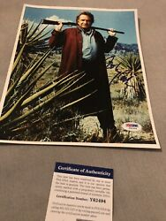 Autographed Johnny Cash 8x10 Photo Psa Certified Signed Awesome Shot