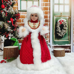 Christmas Figurines Girl Ornaments Decoration Toys Will Dance Children Singing