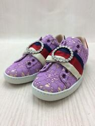 36 Pup Cotton Purple Size 36 Fashion Sneakers 480 From Japan
