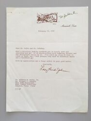 Lady Bird Johnson - U.s. First Lady, Signed Letter With Envelope 1992