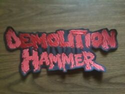 Demolition Hammersew On Red Embroidered Large Back Patch