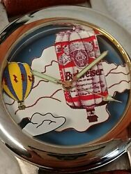 Rare Vintage Budweiser Hot Air Balloon Watch New/vintage Water Resistant 1996