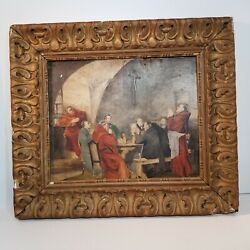Antique Painting Oil On Board 19 X 17 In. Author Unknown. George Rowney Board.