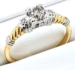 18k Vintage Diamond Ring_750 Yellow Gold And Platinum_valuation Cert Included
