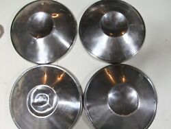 After Market Center Hub Caps Chrome Metal Used Poverty Dog Dish 10