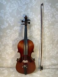 Antique Nicolas Amati Model Violin From Germany W/ Bow And Case