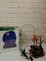 Dept 56 Village Halloween Up, Up And Away Witch Animated, Snow Village