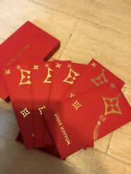 Box Of 5 Louis Vitton Lv Red Envelopes Red Pocket Chinese New Year Cny
