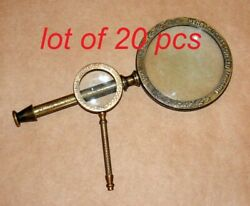 Antique Vintage Brass 9.5 And 5 Magnifying Glass Dollond London Magnifier Gift