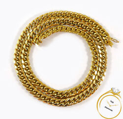 Miami Cuban Hollow Link 10k Yellow Gold Chain Necklace 28.5 9.3mm - 58.5 Grams
