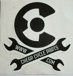 Cheap Cycle Parts Vinyl Sticker - New 3-1/2 X 3-1/2 - Black And White