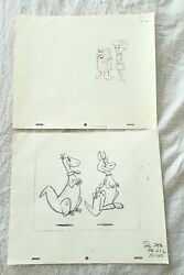 Flintstones 1965 Two 2 Surfin Fred P140 Vintage Animation Production Drawings