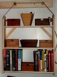 Hanging Shelves In Traditional Shaker Style Natural Pine