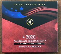 Us Mint 2020 American Innovation 1 Reverse Proof Coin South Carolina