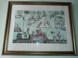 Aida Whedon Carnival Of Tens Signed Artistand039s . 1 Of 1 Only Framed
