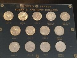 Susan B Anthony Dollars Set 1979-1981 Including 1979-s Type 2 Proof