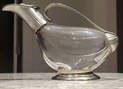 Vintage Wit And Wine Etain Duck Wine Decanter - Made In France - Pewter And Glass