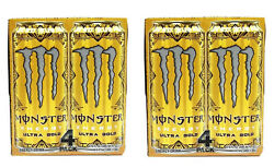 Monster Energy Drink Ultra Gold Zero Sugar 8 Pack Box 16oz Each Can New In Hand