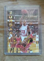 Rare...michael Jordan 1993 Sports Edition Special Retirement Card Gold Signed.