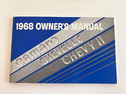 1968 Chevelle Owners Manual And Warranty Book
