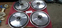 1970and039s Set Of 4 Lincoln Continental Mark Town Car Hubcaps 15 Oem Ford H764