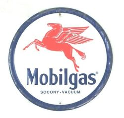 Mobil Gas Advertising Sign Metal Vintage Ad Reproduction Petroliana 11 3/8