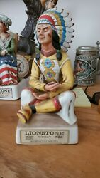 Lot Of 7 Lionstone Whiskey Decanters 1973 And Up Limited Addition