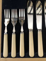 Antique Bone Silveware For Eight
