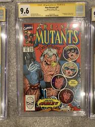 New Mutants 87 Nm+ Cgc 9.6 Ss Signed By Todd Mcfarlane 1st Appearance Of Cable