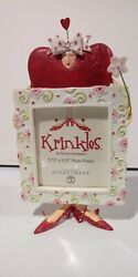 Rare Dept 56 Krinkles Valentine Heart Frame By Patience Brewster. New In Box