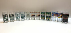 Kentucky Derby Churchill Downs Belmont Stakes Pimlico Drinking Glasses Lot Of 12
