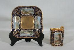 Rare Antique 1880s Coalport Spaulding And Co Handpainted Demitasse Cup And Saucer 2