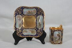 Rare Antique 1880s Coalport Spaulding And Co Handpainted Demitasse Cup And Saucer 3