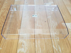 Pro-ject 6 Perspex Clear Turntable Cover - Unused - Minor Crack On Post Insert