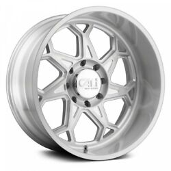 20 Cali Off-road Sevenfold Brushed And Clear Coated Wheels Qty 4