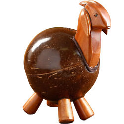 Wood Piggy Bank Indonesian Goat Coin Bank For Kids And Adults Break To Open